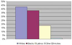 Blacks as Percentage of Total AIDS Deaths (as of 2004)